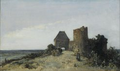 Ruins of the Rosemont Castle | Johan Barthold Jongkind | Oil Painting