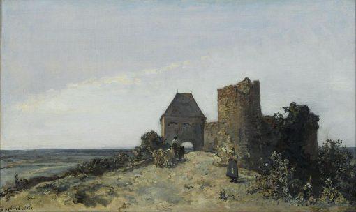 Ruins of the Rosemont Castle | Johan Barthold Jongkind | Oil Painting