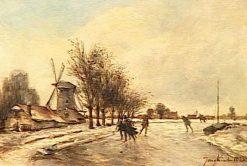 Skaters | Johan Barthold Jongkind | Oil Painting