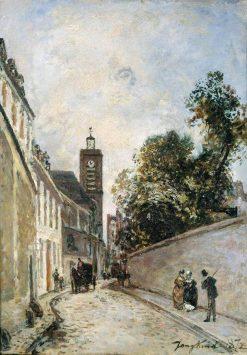 La rue de L'Abbe-de-L'Epee et l'eglise Saint-Jacques-du-Haut