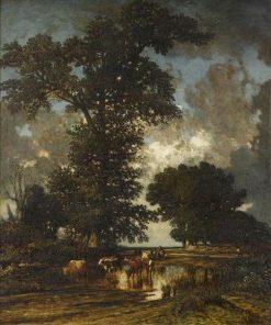 La mare aux chênes | Jules DuprE | Oil Painting
