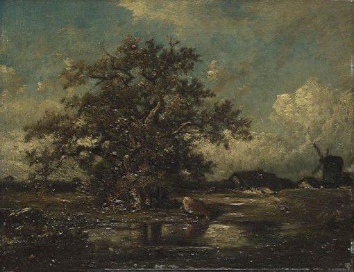 La mare pres du moulin | Jules DuprE | Oil Painting