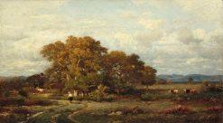 Le chemin de la ferme | Jules DuprE | Oil Painting