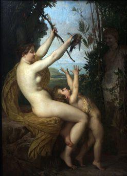 La Nymphe et Bacchus | Jules Joseph Lefebvre | Oil Painting