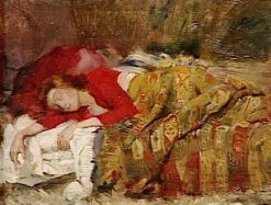 Jeune femme endormi (Young Woman Sleeping) | Lovis Corinth | Oil Painting