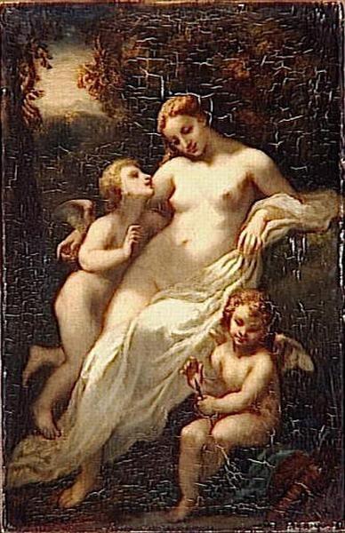 L'amour | Narcisse Dìaz de la Peña | Oil Painting