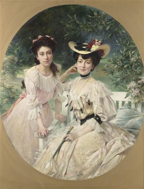 Madame Collas and her Daughter | Theobald Chartran | Oil Painting