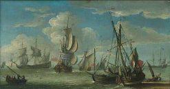 Shipping   Abraham Jansz. Storck   Oil Painting