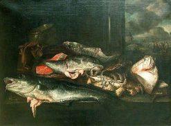 Still Life with Fish | Abraham van Beyeren | Oil Painting