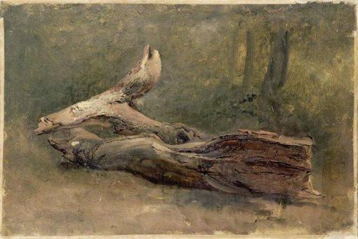 Study of a Dead Tree   Achille Etna Michallon   Oil Painting