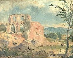 Ruins in a Landscape | Achille Etna Michallon | Oil Painting