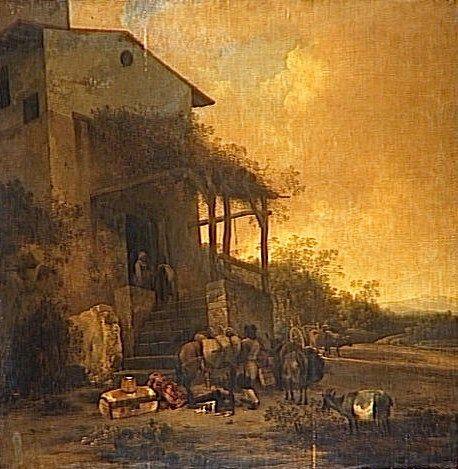 An Italian Inn | Adam Pynacker | Oil Painting