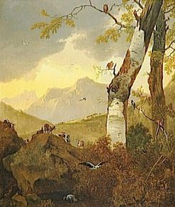 Mountainous Landscape with Goats and Birds | Adam Pynacker | Oil Painting