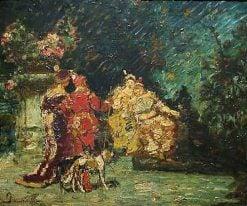 The Visit | Adolphe Joseph Thomas Monticelli | Oil Painting