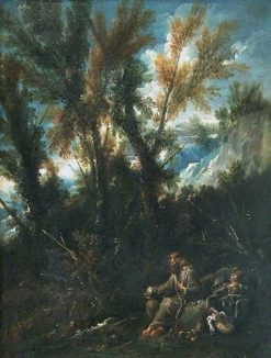Two Hermits in a Wood | Alessandro Magnasco | Oil Painting