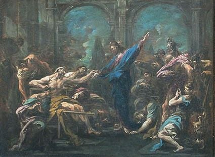 Christ Healing the Sick   Alessandro Magnasco   Oil Painting