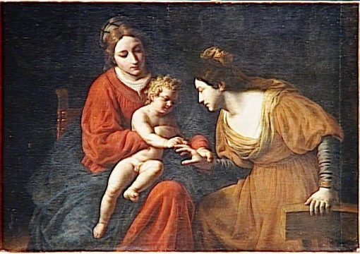 The Mystical Marriage of Saint Catherine | Alessandro Turchi | Oil Painting
