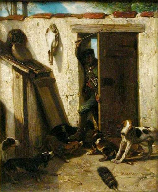 Doghouse   Alexandre Gabriel Decamps   Oil Painting