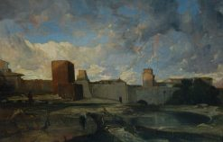 The Ramparts of Aigues-Mortes | Alexandre Gabriel Decamps | Oil Painting