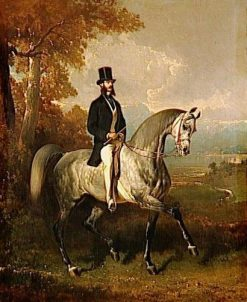 Portrait du Comte Alfred de Montgomery | Alfred de Dreux | Oil Painting