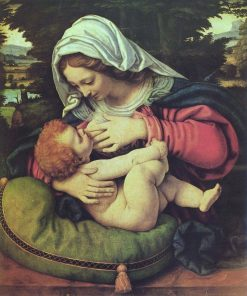 Madonna of the Green Cushion | Andrea Solario | Oil Painting