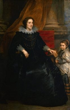 Portrait of a Lady with Her Daughter | Anthony van Dyck | Oil Painting