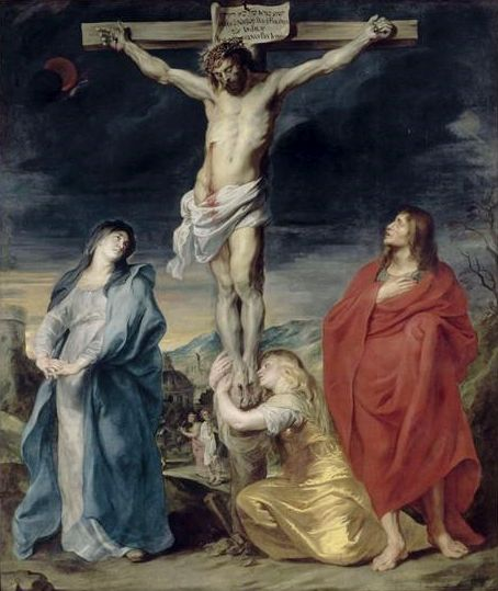 Christ on the Cross with Mary Magdalen and Saint John   Anthony van Dyck   Oil Painting
