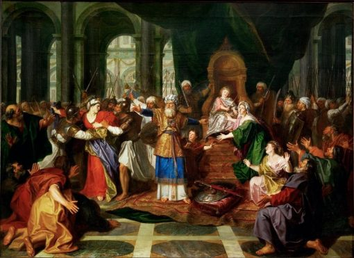 Athaliah Expelled from the Temple (first version) | Antoine Coypel II | Oil Painting