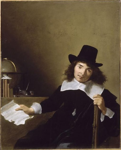 Young man Aged 20 Holding a Letter | Bartholomeus Breenbergh | Oil Painting