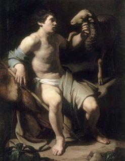 Saint John the Baptist and a Sheep | Bartolomeo Manfredi | Oil Painting