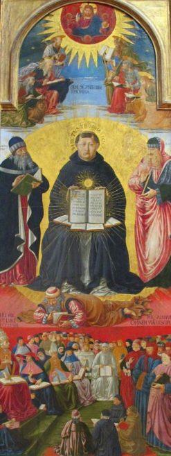 The Triumph of Saint Thomas Aquinas | Benozzo Gozzoli | Oil Painting