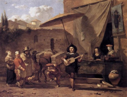 Italian Comedians | Carel Dujardin | Oil Painting