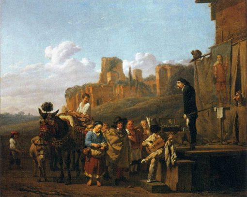 A Party of Charlatans in an Italian Landscape | Carel Dujardin | Oil Painting