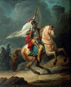 Cavalier Holding a Flag | Carle Vernet | Oil Painting