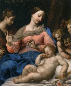 The Sleeping Infant with Angels and Musicians | Carlo Maratta | Oil Painting