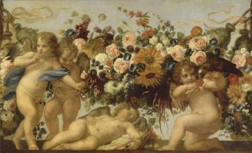 Love and Garlands of Flowers | Carlo Maratta | Oil Painting