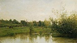 A Corner of Normandie | Charles Francois Daubigny | Oil Painting