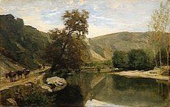 Les bords du Cousin pres d'Avallon | Charles Francois Daubigny | Oil Painting