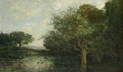 La mare aux hérons (The Pool with Herons) | Charles Francois Daubigny | Oil Painting