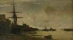 The Thames at Erith | Charles Francois Daubigny | Oil Painting