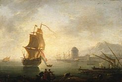 Seascape at Midday with Fishermen and their Catch | Claude Joseph Vernet | Oil Painting