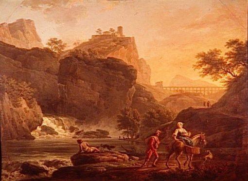 Evening Landscape with Rapids | Claude Joseph Vernet | Oil Painting