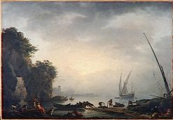 Marine: Soleil couchant (Marine Sunset) | Claude Joseph Vernet | Oil Painting