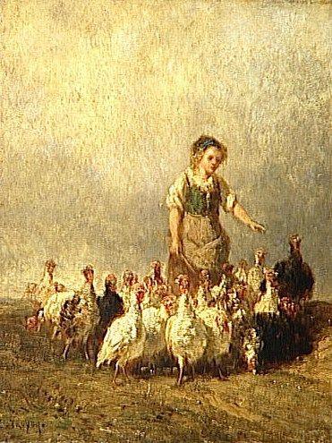 Goosegirl   Constant Troyon   Oil Painting