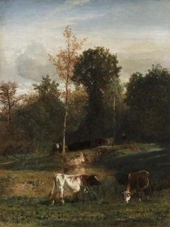 Vaches au paturage (Cows in the Pastures) | Constant Troyon | Oil Painting