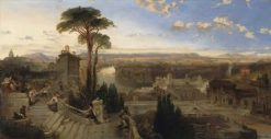 View of Rome   David Roberts   Oil Painting