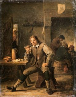 Smoker Leaning his Elbow on a Table | David Teniers II | Oil Painting