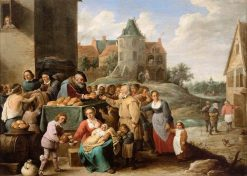 The Works of Mercy | David Teniers II | Oil Painting