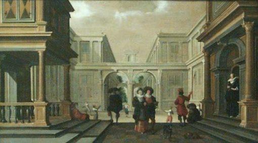 Les joueurs de paume | Dirck van Delen | Oil Painting