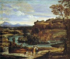 Landscape with a Child overturning Wine | Domenichino | Oil Painting
